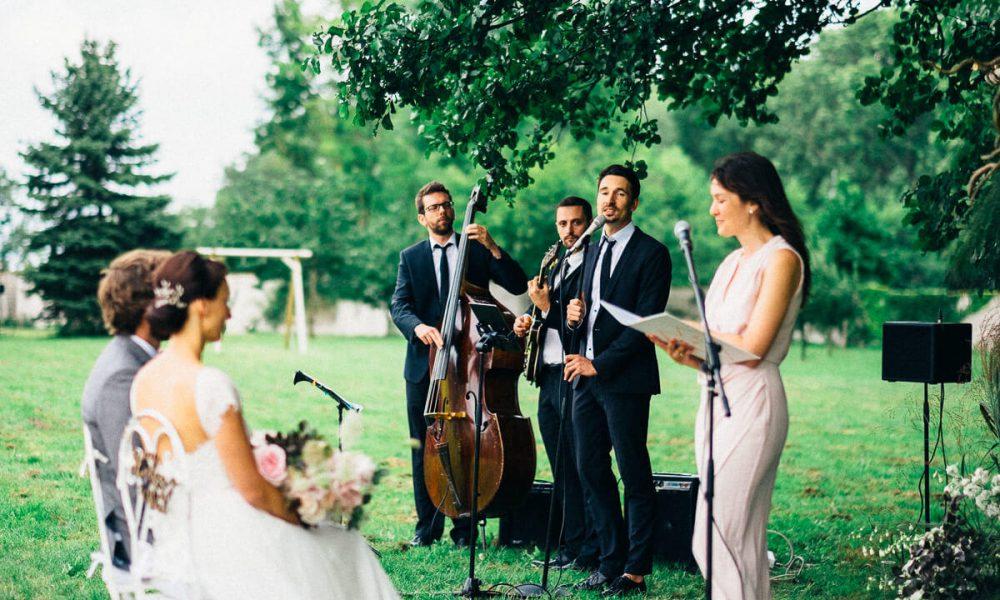 jazzband zur Trauung einer Hochzeit