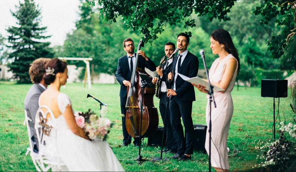Hochzeitsband Vocal Invitation spielt zur Trauung
